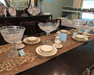 SHANNON CRYSTAL & LENOX ETERNAL DISHES