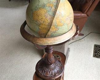 Great old terrestrial globe