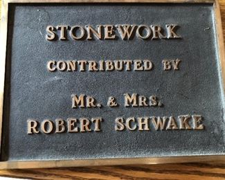 Plaque is not for sale