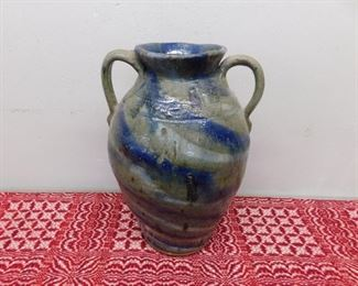 Large Double Handled B.B. Craig Porch Vase(Swirl)