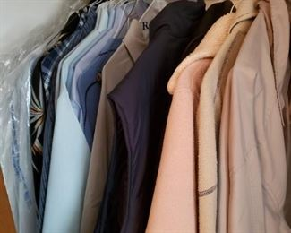 Lots of mens and womens clothes