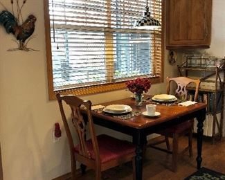 Breakfast Table and Four Chairs