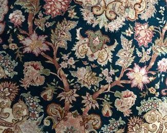 Silk/Wool Blend Asian Rug