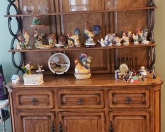Beautiful Open French Hutch and Cabinet