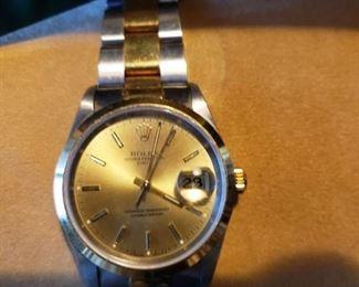 Rolex watch with paper work