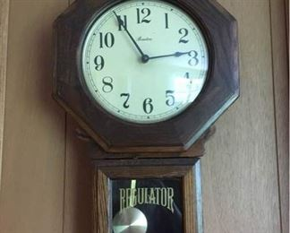 Barton Regulator Wall Clock https://ctbids.com/#!/description/share/157938