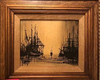 framed ship prints