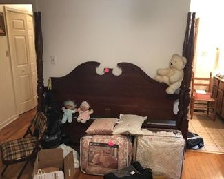 comforter sets, four poster headboard and footboard