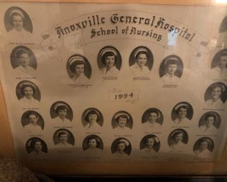 Knoxville General Hospital School of Nursing class photo 1954
