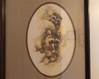 raccoon print by Paul Whitney Hunter