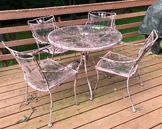 vintage wrought iron patio set