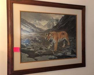 Charles Frace' tiger print
