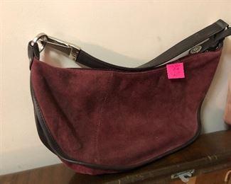 Anne Klein suede purse