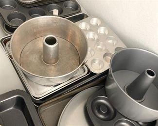 cake pans, muffin pans, cookie sheets and more