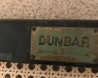 Pairs of stools are marked with original tag of Dunbar
