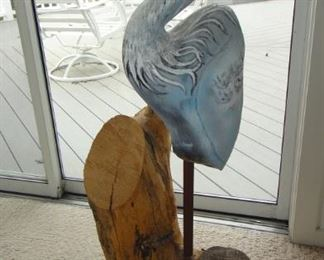Heron Wood sculpture