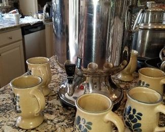 Coffee Urn, Pfaltzgraff cups