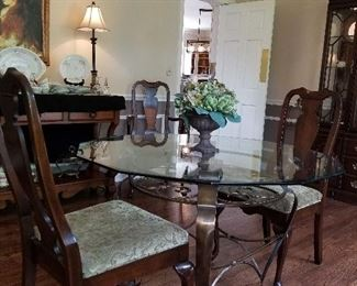 Center Table,  6 dining room chairs