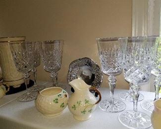 Balleek, many pieces, Galway  Irish Crystal