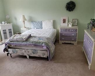 Girls Bedroom Set, White & Purple