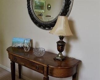 Console Table, Mirror,