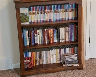 So many sizes of bookcases and types of books