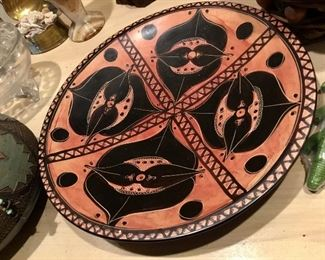 Pretty painted plate