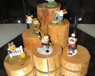 WEE FOREST FOLK LIMITED EDITION COLLECTIBLE MICE FIGURINES