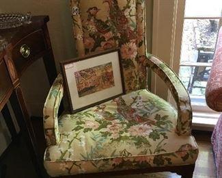 Floral Captain's chair