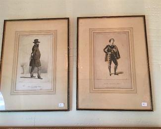 Antique European prints