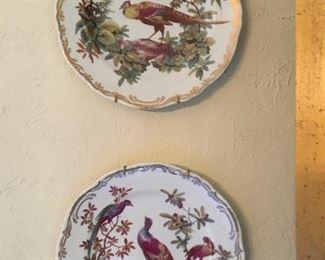 Decorative Smithsonian pheasant plates