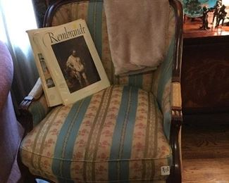 Hickory floral chair