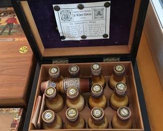 Antique doctor's kit in original wooden box