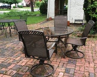 One of several patio furniture sets