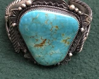 Big beautiful Native American  cuff bracelet