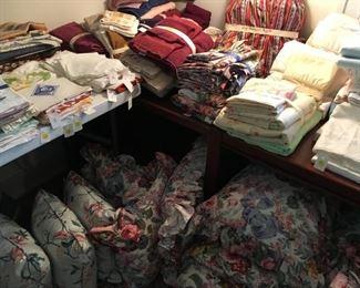 An array of linens