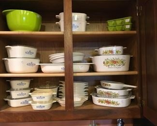 Corningware in two patterns