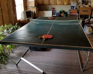 folding ping pong table with accessories