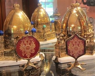 THEO FABERGE EGGS, ST. PETERSBURG COLLECTION, WITH BOX