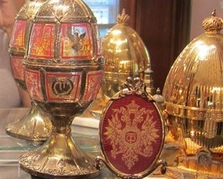 THEO FABERGE EGGS, ST. PETERSBURG COLLECTION