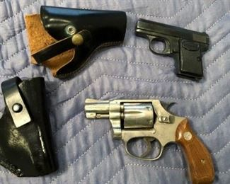 BABY BROWNING AND A SMITH AND WESSON 32 LONG.