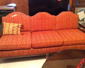 fabulous couch with wood frame and slats