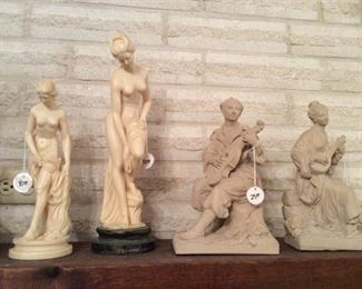Many interesting art pieces, some marble. Both homeowners were artists. These were items they purchased. See next seven photos