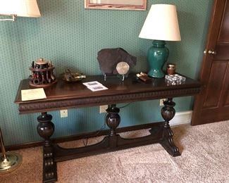 Antique Library Table or Sofa Table !