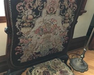 Needlepoint firescreen