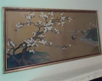 Chinese painting on silk.