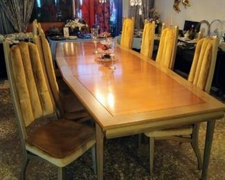 Mid Century Table w/ 8 chairs