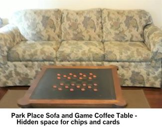Sofa and Game table