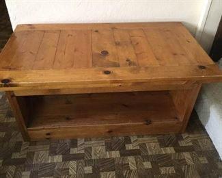 Rustic Pine Coffee Table https://ctbids.com/#!/description/share/160170