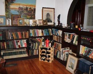 Books, Books, Books, Wine Rack Wall Art and Statuary